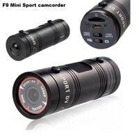 F9 Full HD 1080P 3MP AIV Mini Camcorder Small Aluminum Sport Action Recorder Helmet Camera DV