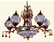 Southeast Asia Chandelier Bohemian Living Room Restaurant Light Turkey Mosaic Bar Man Coffee Chandelier(China)
