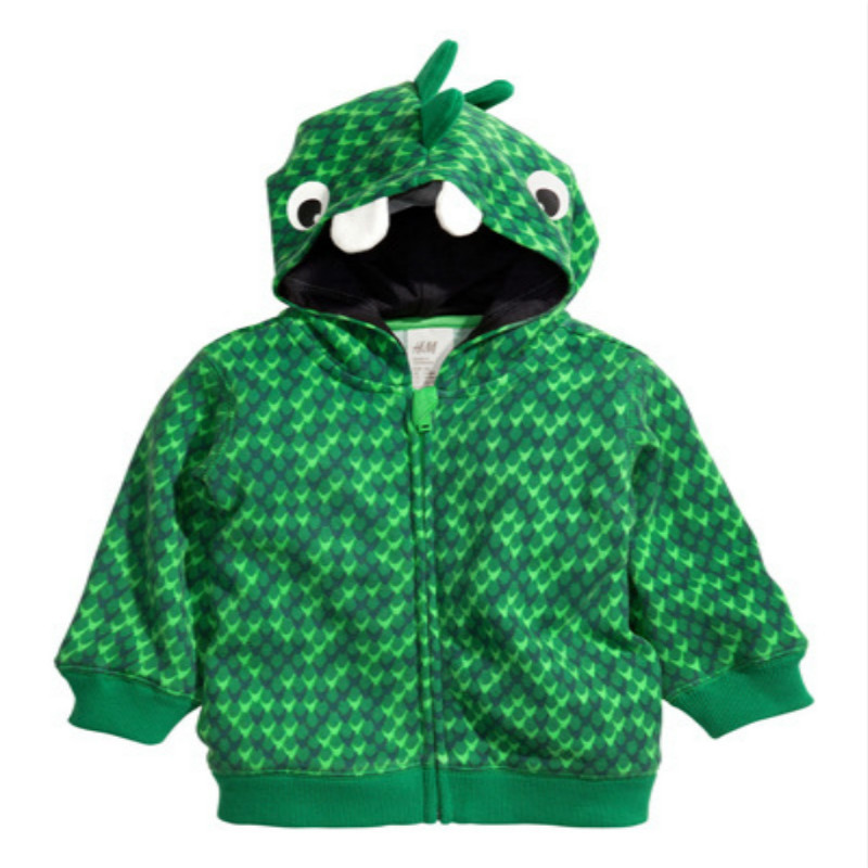 Boys Animal Hoodies Kids Spring Autumn Clothes Dinosaur Zipper Coat Children Fashion Sweatshirt 2-6 Years Baby boys Clothing 6