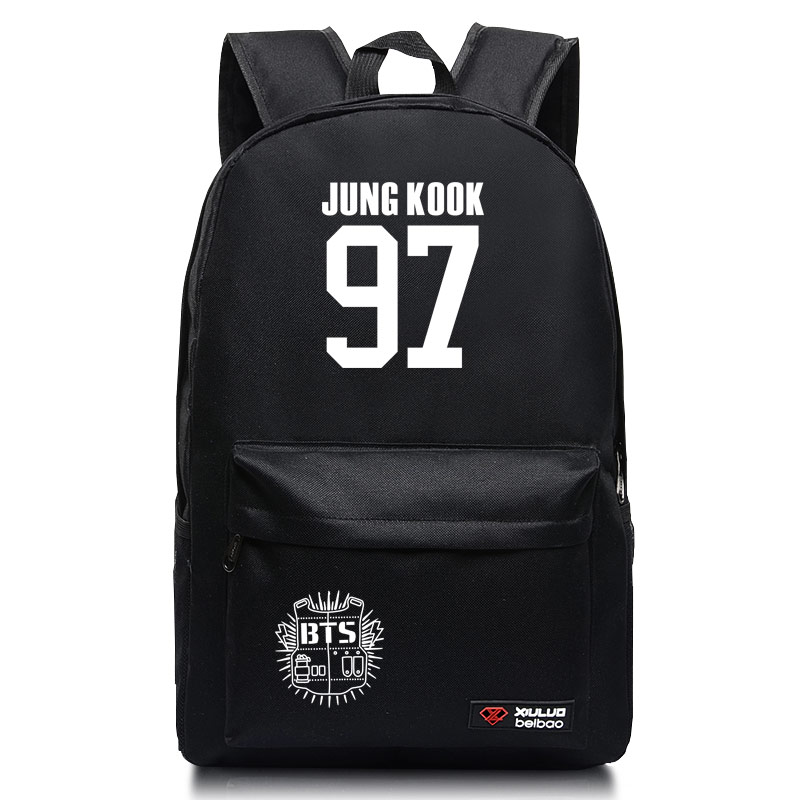 Fashion Shoulders bag BTS Group Bangtan Boys Student couple backpack Leisure school book bag for Teenage Girls Laptop Back Pack