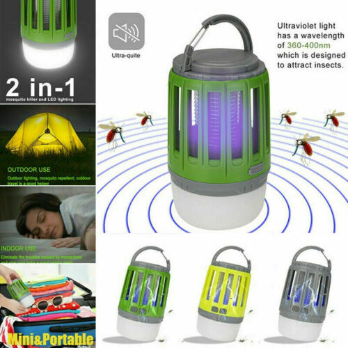 USB LED Electric Mosquito Zapper Killer Fly Insect Bug Trap Tool Lamp Light Bulb