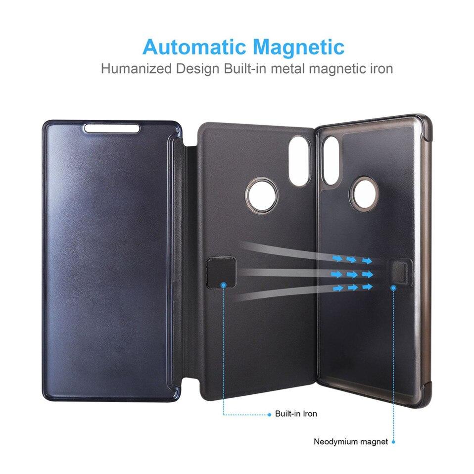Mirror Flip Case For Xioami Redmi Note 7 5 6 pro 06