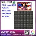 Полноцветный светодиодный дисплей модуль 32*32 пикселей 244*244 мм светодиодные панели крытый p7.62 светодиодный экран rgb светодиодные видео стены, светодиодные рекламные diy