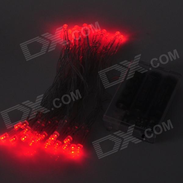 red 3m 30 battery operated led string light for fairy christmas lights decoration holiday wedding free shipping