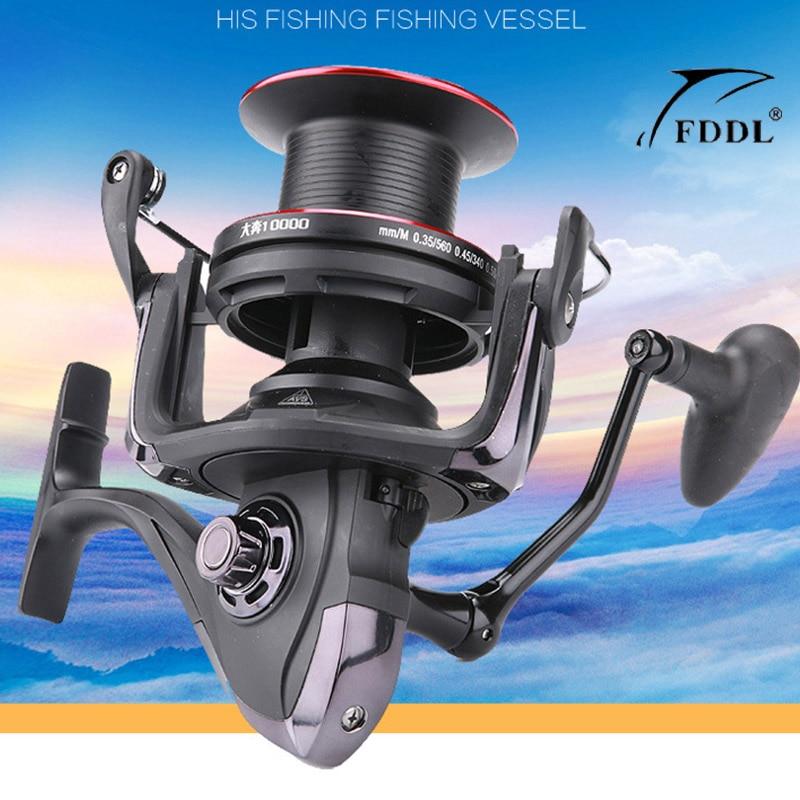 Nouvelle bobine de carpe FDDL 13 + 1BB avec bobine de rechange FDDL 10000 moulinet de pêche à Long tir 670g 4.1: 1 bobine de coulée de Surf à rapport de vitesse