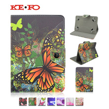 Print Leather Stand case Cover For Android Tablet For Modecom FreeTAB MOMENTUM 10 inch universal +Center Film+pen KF492A