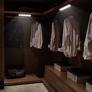Image 5 - 무선 cob led 스위치 밤 빛 베란다 벽 램프 침실 복도 캐비닛 부엌 옷장 조명 aaa 마그네틱 스트립