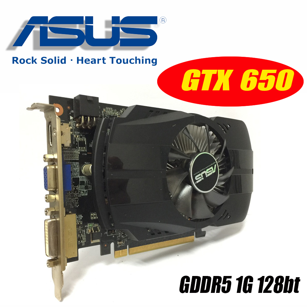Asus GTX-650-FMLII-1GB GTX650 1GB GTX 650 1G D5 DDR5 128 Bit PC Desktop Graphics Cards PCI Express 3.0 computer Graphics Cards