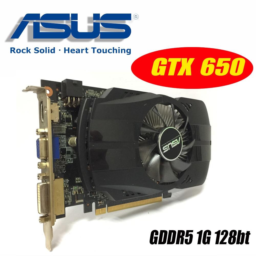 Asus GTX-650-FMLII-1GB GTX650 1 GB GTX 650 1G D5 DDR5 128 peu PC De Bureau Cartes Graphiques PCI Express 3.0 ordinateur Graphique cartes