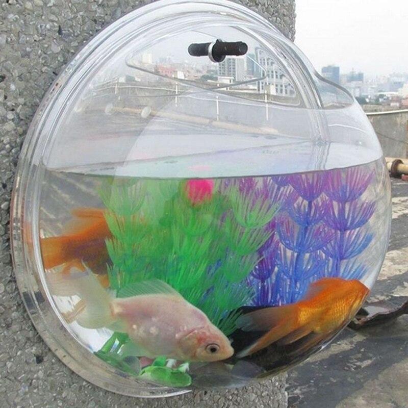 NEW Home Decoration Pot Wall Hanging Mount Bubble Aquarium Bowl Fish Tank 3 Size