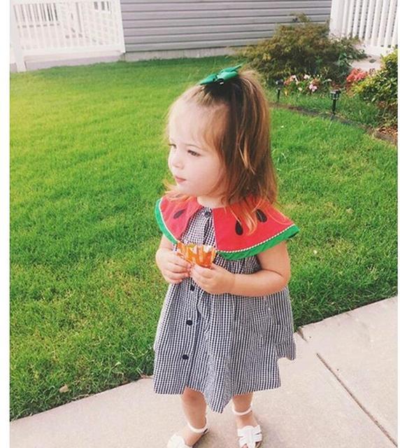 277985e926f4 Girl Dress Kids Clothes 2017 Brand Summer Princess Dress Baby watermelon  crew neck Girls Jersey Dresses Children
