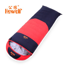 Hewolf duck down 1500g Filling -20C comfortable temperature ultra-light adult breathable thickening sleeping bag
