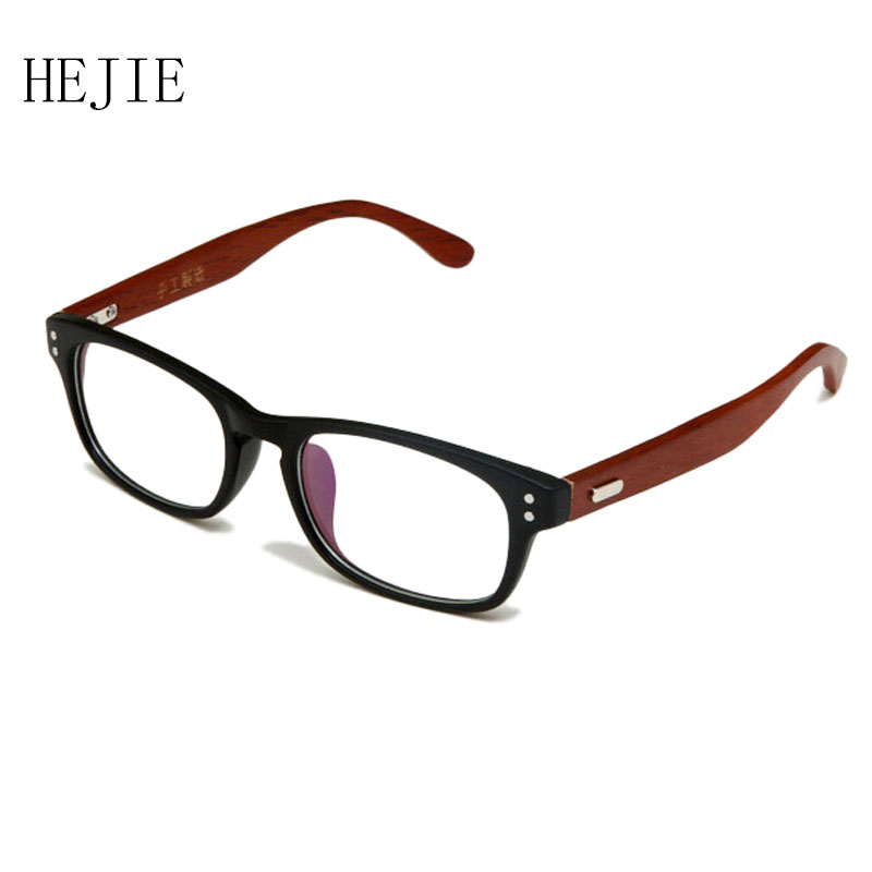 ᐃFashion Man Woman TR90 Frame Wood Temple Myopia Eyeglasses Frames ...