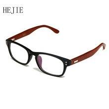Moda Homem Mulher Armações de Óculos Full Frame óculos de Miopia Quadro TR90 Templo de Madeira 4 Cores do Tamanho 49-21-133 Y1013