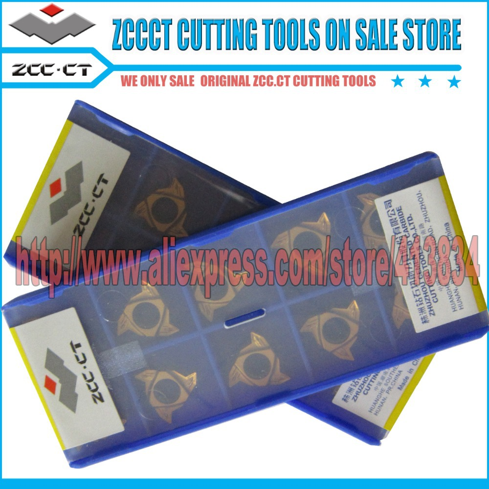 10pcs RT16 01W 3 00GM YBG201 PVD Coating ZCCCT Cemented Carbide CNC Threading inserts