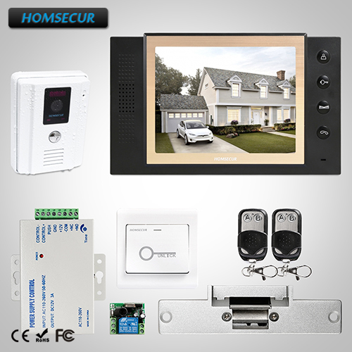 HOMSECUR 8 Video Door Phone Intercom System Electric Strike Lock Set Included  TC011-W + TM801-BHOMSECUR 8 Video Door Phone Intercom System Electric Strike Lock Set Included  TC011-W + TM801-B