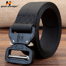 SWAT Military Equipment Knock Off Army Belt Mens Heavy Duty US Soldier Combat Tactical Belts Sturdy Adjustable Nylon Waistband