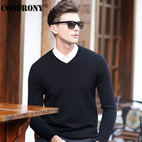 HS High Quality Winter Soft Warm Knitted Merino Wool Sweater Men 100 Real Cashmere Sweaters Pure