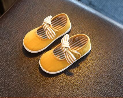 2018  spring new children's female bow princess toddler shoes