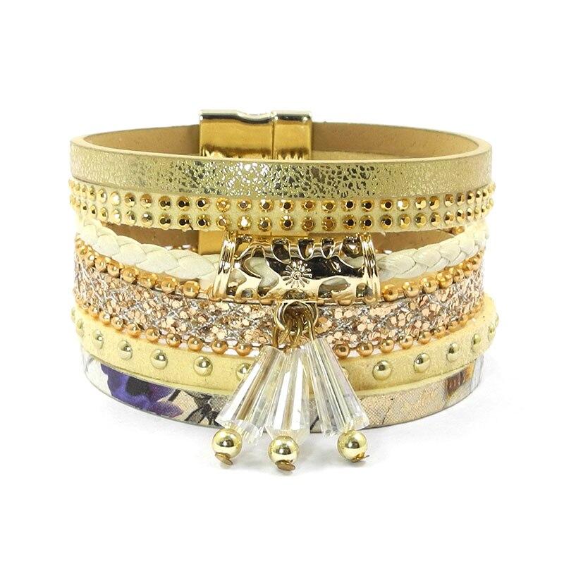 wellmore sommer læder armbånd charme armbånd & armbånd magnet - Mode smykker - Foto 2