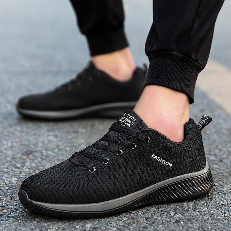 新 2019 男性ランニングメッシュ男性アウトドアスポーツの靴軽量で快適な通気性ジョギング旅行靴スニーカー