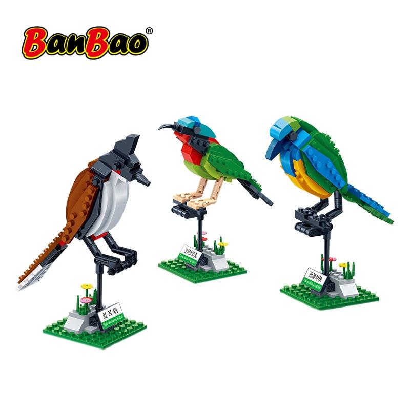 Blocos De Construção BanBao 3 Aves Definir Cognição Animal Modelo Brinquedos Educativos Tijolos Compatível Com a marca Presente Das Crianças Dos Miúdos 5123