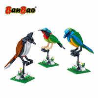 BanBao Building Blocks 3 Birds Set Animal Cognition Bricks Educational Toys Model Compatible With brand Kids Children Gift 5123