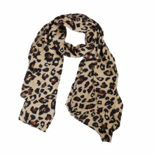 Winfox Vintage Leopard Animal Print Winter Scarf Women Chiffon Shawls and Wraps For Ladies Female