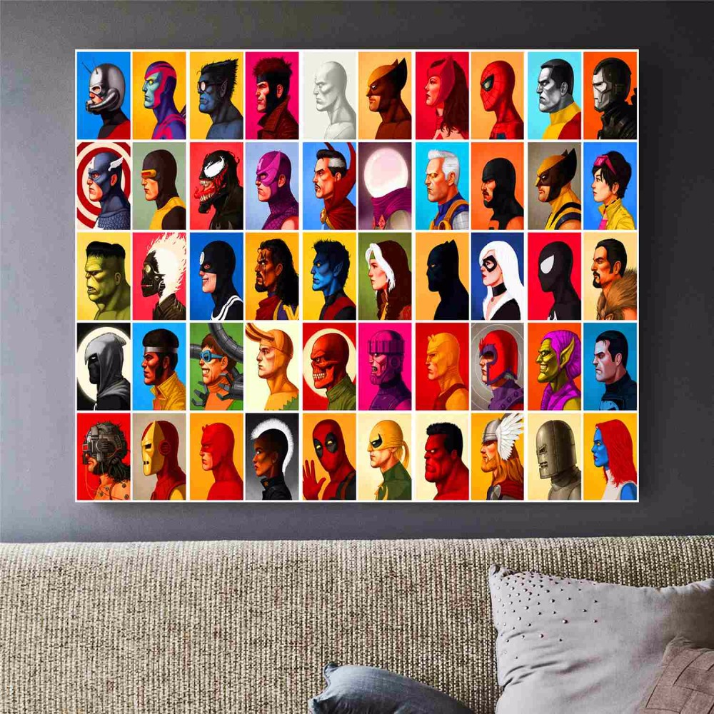 marvel superheroes canvas art print painting poster wall pictures for room home decoration wall. Black Bedroom Furniture Sets. Home Design Ideas