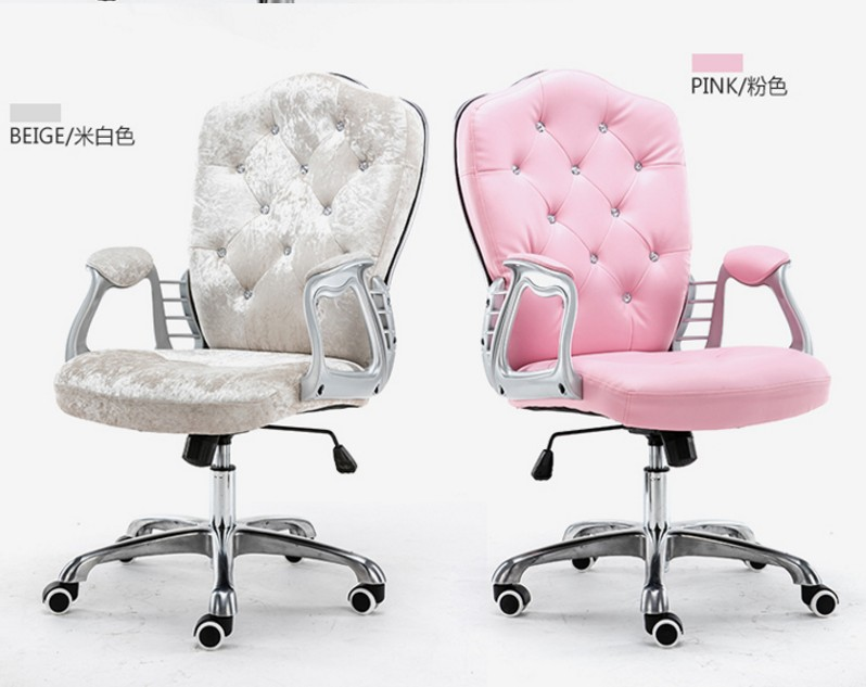 Multi Color Luxury Royal PU Home Computer Chair Velvet Fabric Middle Back Manager Chair Modern Ergonomic Office Task Chair C60