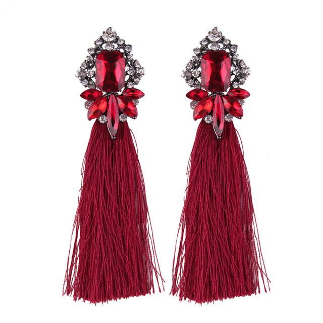 New Crystal Tassel Earrings