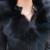 De gama alta de piel de Zorro Auténtico Sashes Cremallera Gruesa Tachonado Hombro Pad Largo Invierno mujeres de la Capa de la Chaqueta