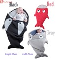 Nova alta qualidade comforttable macio Bonito Tubarão Dos Desenhos Animados Do Bebê Saco de Dormir crianças saco de Dormir de Inverno garoto Quente Cobertor Swaddle