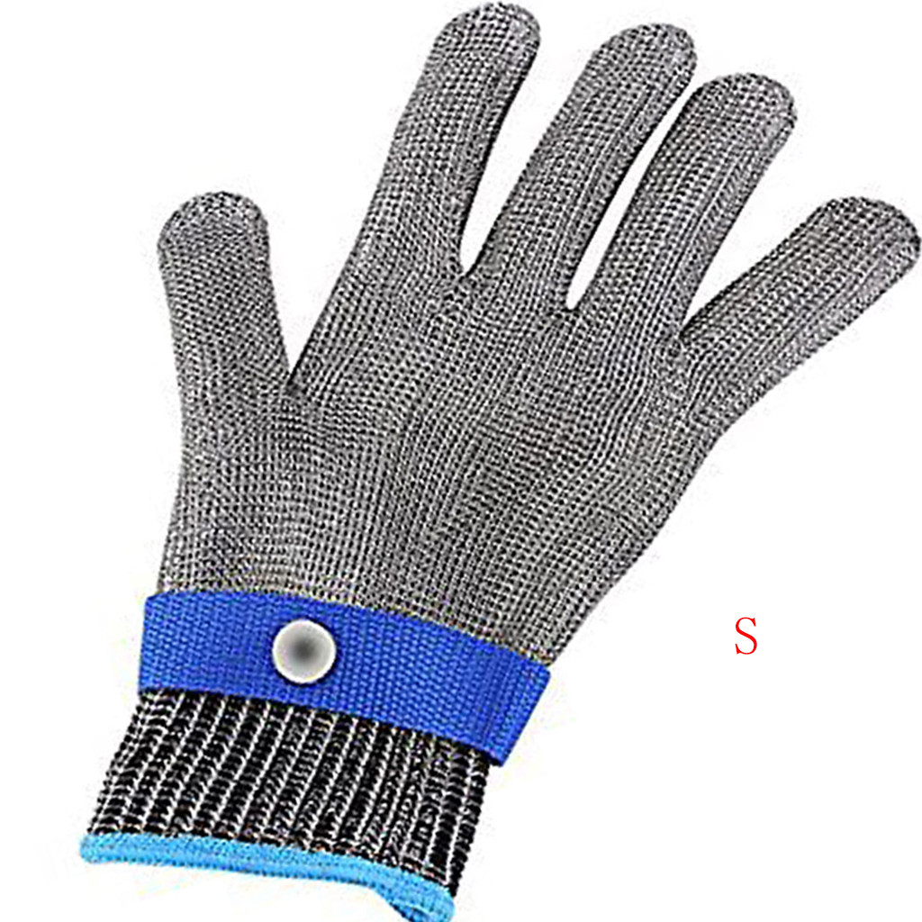 Safety Cut Proof Stab Resistant Stainless Steel Gloves Metal Mesh Butcher Gloves For Cleaning The Home Kitchen Gloves Household