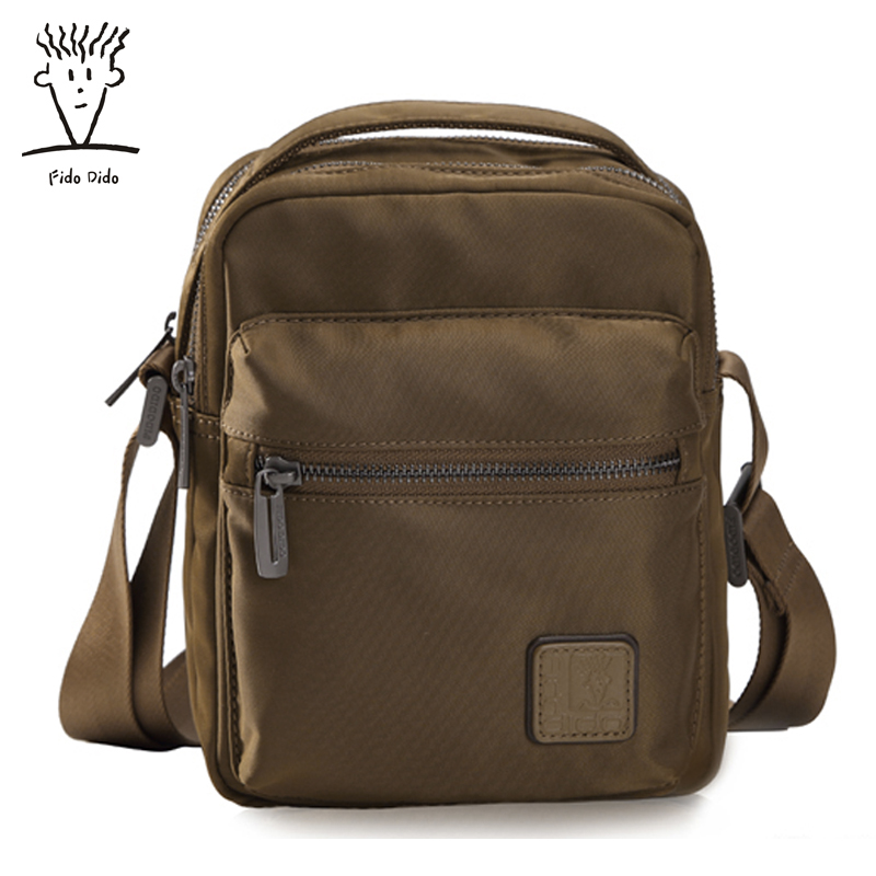 Fido Dido Genuine Shoulder Bag Nylon Style Tide Messenger Bag Men Fashion Bags Shoulder Bag!! fido