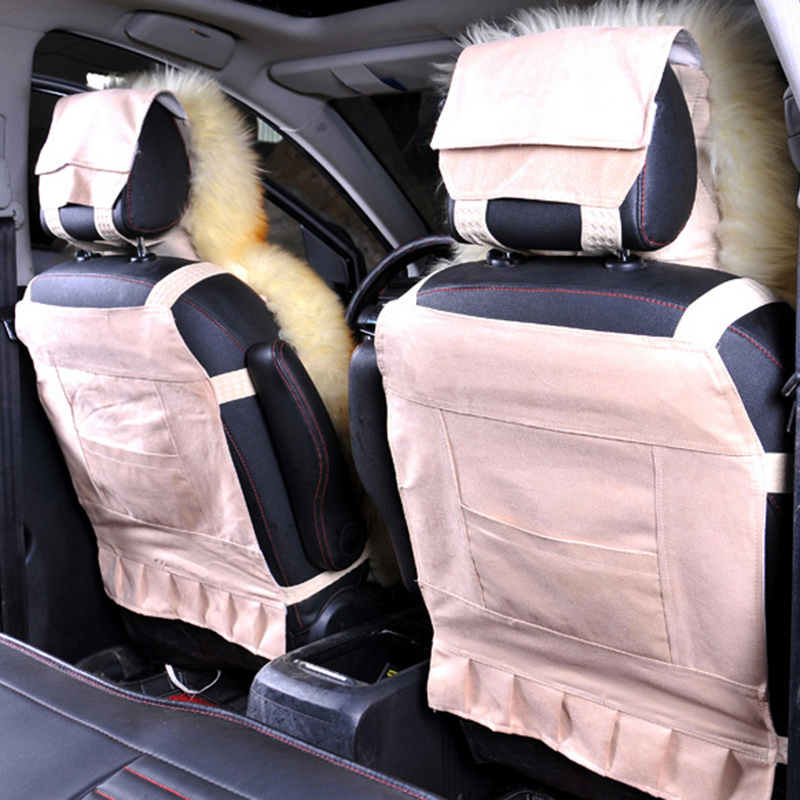 Image 4 - Wool Car Seat Cover Winter Warm Automobiles Seat Cushion Natural Fur Australian Sheepskin Auto Seats Cover Cars Fur Accessories-in Automobiles Seat Covers from Automobiles & Motorcycles