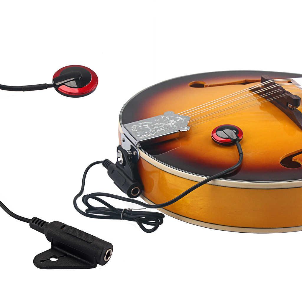 מקצועי 6.35mm קשר מיקרופון איסוף נחושת טנדר אקוסטית גיטרה כינור יוקולילי בנג 'ו מחרוזת מכשיר