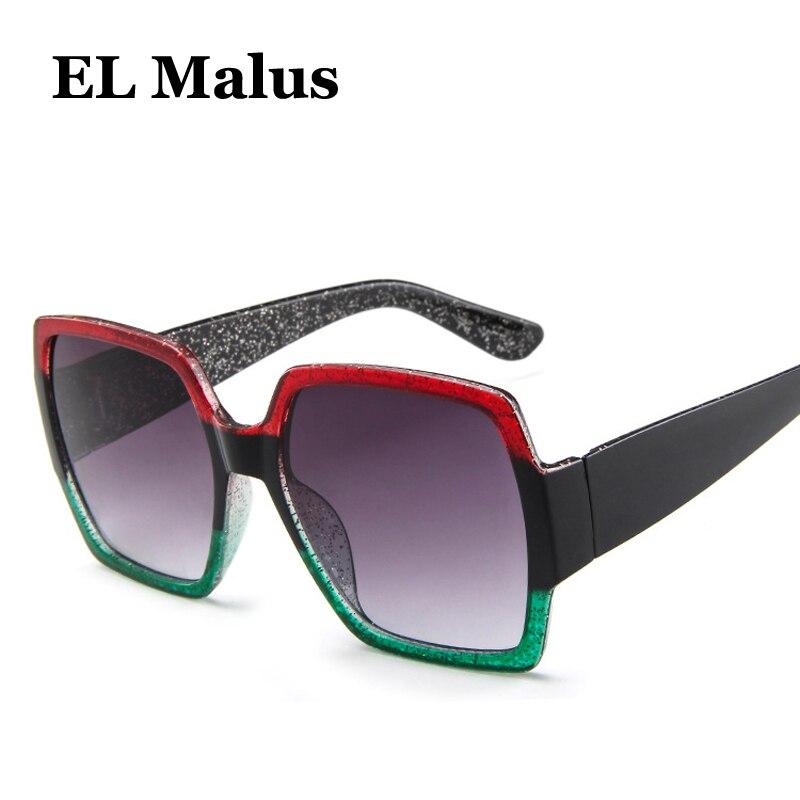 el Malus new Square Frame Sunglasses Women Mens Blue Pink Wine Red Lens Sexy Ladies Sun Glasses Brand Designer Oculos Gafas Bright