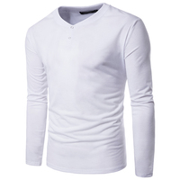 2017 Men S Long Sleeved T Shirt New Autumn Fashion Brand Men Clothes Slim Fit Male