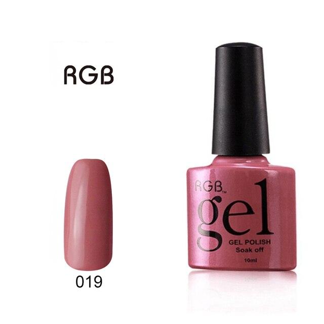 RGB Popular Color de esmalte de Uñas Empapa de Pulimento Del Gel 10 ...