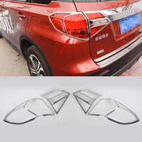 2016 New Car Styling 4Pcs Set Taillight Chrome Sequins For Suzuki Vatara 2016 Newest ABS Plating
