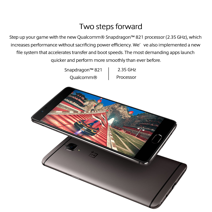 "Image 5 - EU Version Oneplus 3T A3003 Mobile Phone Dual SIM 5.5""2160x1080P 6GB RAM 128GB ROM Snapdragon821 Quad Core NFC 3400mAh Callphone-in Cellphones from Cellphones & Telecommunications"