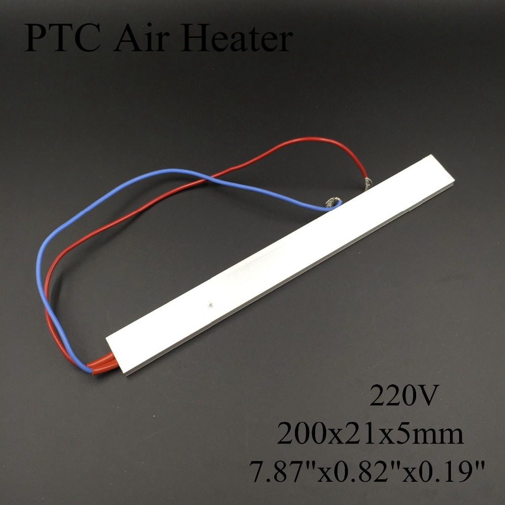 (2 pieces/lot) 220V 200x21x5mm PTC Thermostat Aluminum Heating Element Ceramic Air Heater Plate Chips Incubator Dehumidification dia 400mm 900w 120v 3m ntc 100k round tank silicone heater huge 3d printer build plate heated bed electric heating plate element