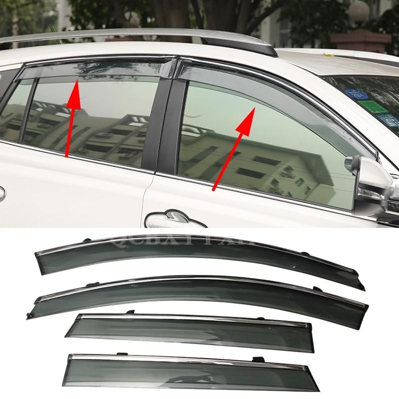 4pcs Lot Car Awning Shelter Window Visor For Toyota Rav4