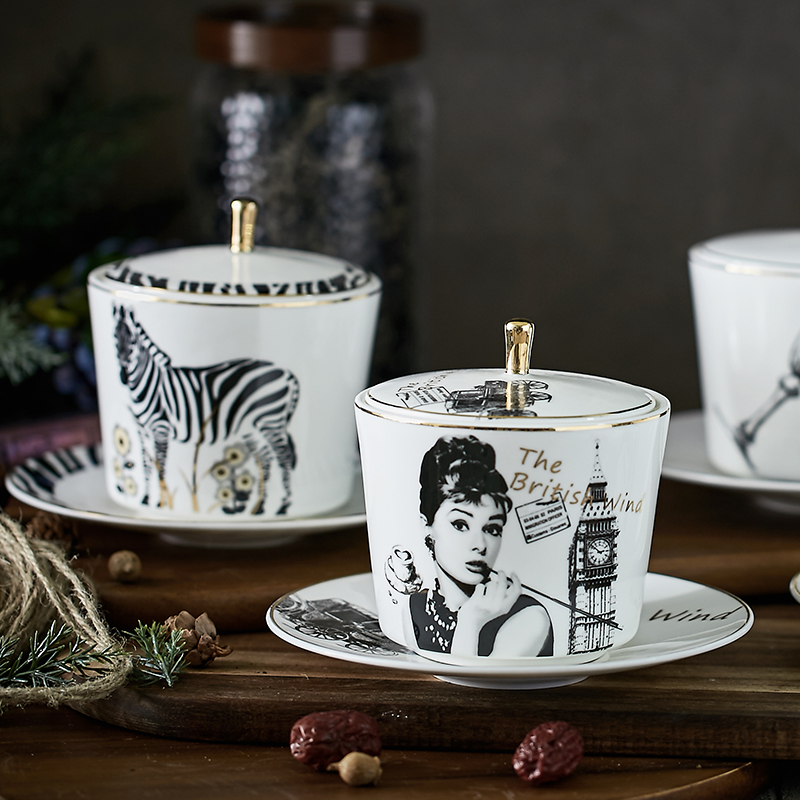 Germany Guci Bird's Nest Stewing Cup Ceramic Steaming Cup With Cover And Steaming Soup Steaming Cup With Two Ears And Wings Cup