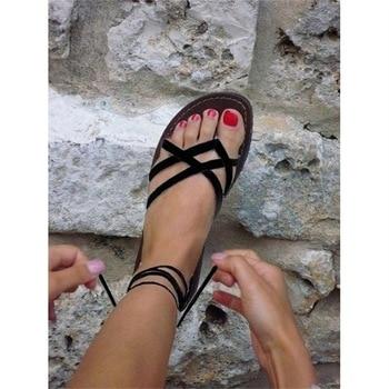 Summer Retro Ladies Beach Sandals Roman sandals Women Sandals Fashion Gladiator Sandals For Women Shoes Female Flat