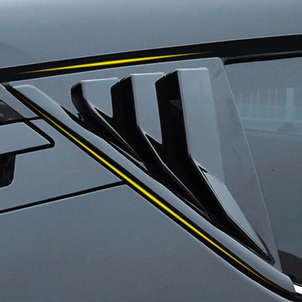 New Updating Bigger Rear Door Triangle Trim Cover For Toyota CHR 2018 Rear Door Pillar Sticker For Toyota C HR 2017 2018 2019