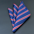 [LESIDA] Men's Suits Striped Handkerchiefs Woven Pocket Square Hankies Men's Business Casual Square Pockets HankySP0002