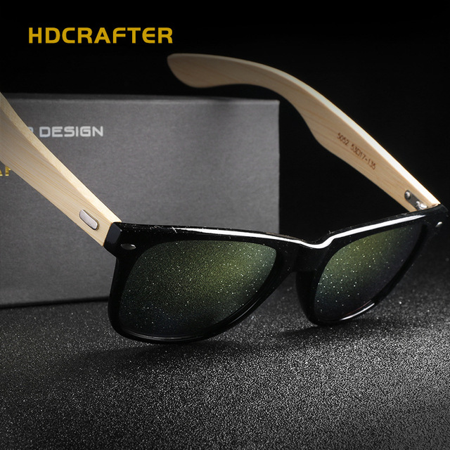 78503855ac HDCRAFTER Fashion Mirror Men Glasses with Wood Frame Sunglasses for Men  Brand Designer with High Quality gafas oculos de sol