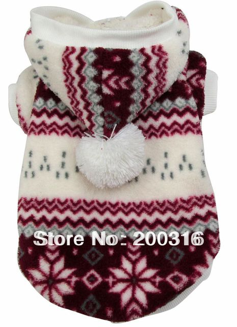 New Arrival Snow Pet Dogs Warm Sweater Coat for dog Free shipping dogs clothes